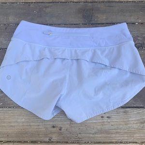 """Lululemon Speed Up Shorts 2.5"""" lavender"""